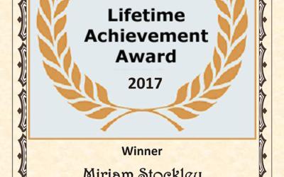 Miriam Stockley Wins One World Music Radio's Lifetime Achievement Award!